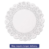 """Brooklace Lace Doilies, Round, 6"""", White, 2000/Carton"""