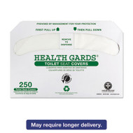Health Gards Recycled Toilet Seat Covers, White, 250/PK, 4 PK/CT