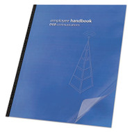 Clear View Presentation Binding System Cover, 11-1/4 x 8-3/4, Clear, 100/Box