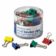 """Binder Clips, Metal, 3/4"""", Assorted Colors, 36/Pack"""