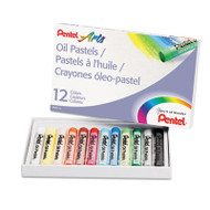 Oil Pastel Set With Carrying Case,12-Color Set, Assorted, 12/Set