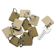 Extra Blank Velcro Tags, Velcro Security-Backed, 1 1/8 x 1, Beige, 12/Pack