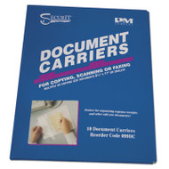 """Document Carrier for Copying, Scanning, Faxing, 8 1/2"""" x 11"""", Clear, 10/Pack"""