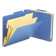 """2-1/2"""" Expansion Heavy-Duty Poly Classification Folders, Letter, Blue, 10/Box"""