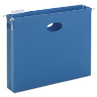 """2"""" Capacity Closed Side Flexible Hanging File Pockets, Letter, Sky Blue, 25/Box"""