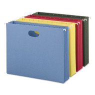 """3 1/2"""" Cap Hanging Pockets w/Full-Height Gussets, Letter, Assorted Colors, 4/PK"""