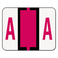 A-Z Color-Coded Bar-Style End Tab Labels, Letter A, Red, 500/Roll