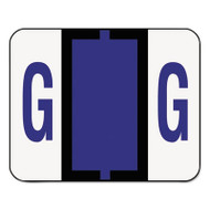 A-Z Color-Coded Bar-Style End Tab Labels, Letter G, Violet, 500/Roll