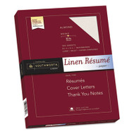 100% Cotton Linen Resume Paper, 32lb, 8 1/2 x 11, Almond, 100 Sheets