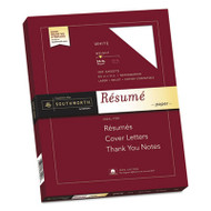 100% Cotton Resume Paper, 24lb, 95 Bright, 8 1/2 x 11, 100 Sheets