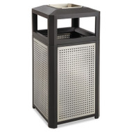 Ashtray-Top Evos Series Steel Waste Container, 15gal, Black
