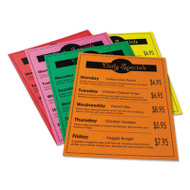 Array Card Stock, 65 lb., Letter, Assorted Bright Colors, 50 Sheets/Pack