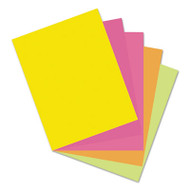 Array Card Stock, 65 lb., Letter, Assorted Hyper Colors, 50 Sheets/Pack