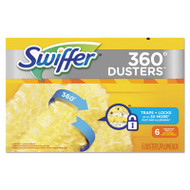 360 Dusters Refill, Dust Lock Fiber, Yellow, 6/Box, 4 Box/Carton