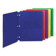 Campus.org Poly Snap-In Two-Pocket Folder, 11 x 8 1/2, Assorted, 10/Pack