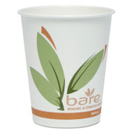 Bare Eco-Forward PCF Hot Cups, Paper, Green/White, 10 oz, 300/Carton