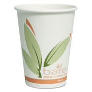 Bare Eco-Forward PCF Hot Cups, Paper, Green/White, 12 oz, 300/Carton