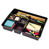 Recycled Deep Drawer Organizer, 7 Sections, 15 x 11 7/8 x 2 3/4, Black