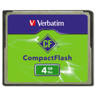 CompactFlash Memory Card, Class 4, 4GB