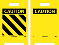 CAUTION DOUBLE-SIDED FLOOR SIGN