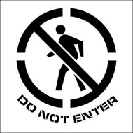 DO NOT ENTER GRAPHIC PLANT MARKING STENCIL
