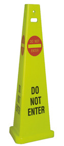 DO NOT ENTER TRIVU 3-SIDED SAFETY CONE