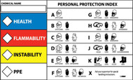 RIGHT-TO-KNOW PROTECTIVE EQUIPMENT LABEL