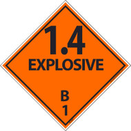 1.4 EXPLOSIVES B1 DOT PLACARD LABELS