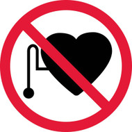 NO PACEMAKERS ISO LABEL