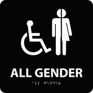 ALL GENDER/HANDICAPPED BRAILLE ADA SIGN