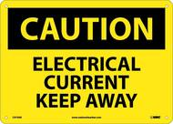 CAUTION ELECTRICAL CURRENT KEEP AWAY SIGN