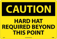 LARGE FORMAT CAUTION HARD HAT REQUIRED SIGN