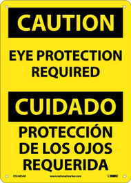 CAUTION EAR PROTECTION REQUIRED SIGN - BILINGUAL