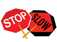 ALUMINUM SAFE-T-PADDLE STOP/SLOW SIGN