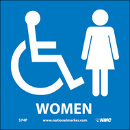 ADA LOCATION MARKER WOMEN SIGN