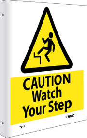 2-VIEW CAUTION WATCH YOUR STEP SIGN