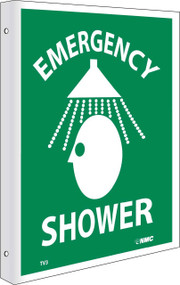 2-VIEW EMERGENCY SHOWER SIGN