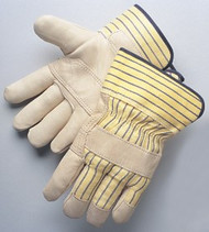 Multi-color - Reinforced palm - canvas back and safety cuff