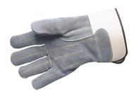 """Fully quilted double leather palm & fingers - 2 3/4"""" safety cuff - M-XL (3357)"""