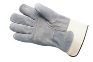 """Double leather palm & fingers - reinforced thumb - 2 3/4"""" safety cuff"""