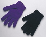 Machine knit MAGIC glove - assorted solid colors - one size fits all