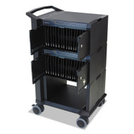 Tablet Management Cart with ISI for 32 Devices, 24 1/4 x 18 3/4 x 39 3/4, Black