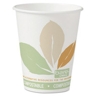 Bare by Solo Eco-Forward PLA Paper Hot Cups, 8 oz, Leaf Design,50/Bag,20 Bags/Ct