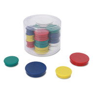 Assorted Magnets, Assorted Sizes, Assorted Colors, 30/Pack