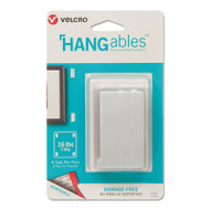 HANGables Removable Wall Fasteners, 0.875 x 4.5, White, 8/Pack