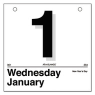 """""""Today Is"""" Daily Wall Calendar Refill, 6 x 6, White, 2017"""