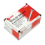 """Brass Prong Paper File Fasteners, 2"""" Length, 100/Box"""
