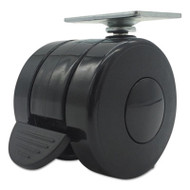 Casters for Height-Adjustable Table Bases, Black, 4/Set