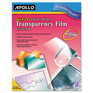 Inkjet Transparency Film w/o Sensing Stripe, Letter, Clear, 50/Box