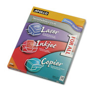 Color Laser/Inkjet Transparency Film w/o Sensing Stripe, Letter, Clear, 50/Box